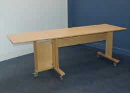 hoogzit tafel met uitklapbaar extra tafelblad